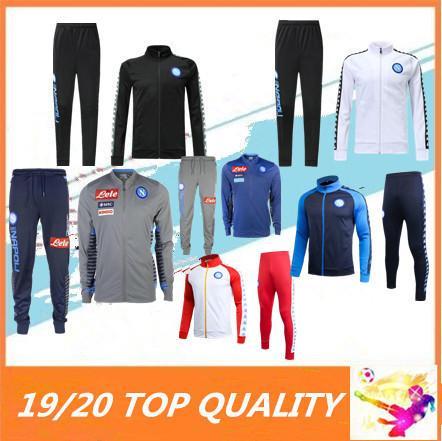 2019 2020 SSC napoli Eşofman eğitim takım elbise 18 19 Napoli ZIELINSKI Hamsik INSIGNE MERTENS CALLEJON ceket Futbol veste takım elbise