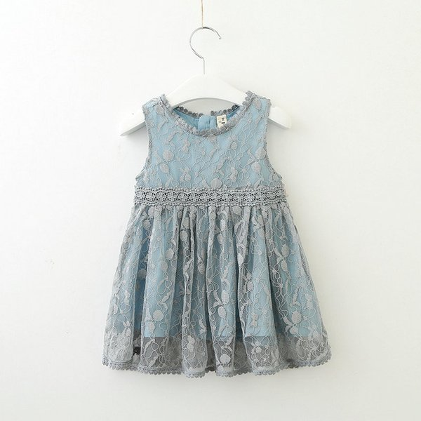 Fashion Cute Kids Dress Sleeveless Princess Dress for Toddler Girl Casual Summer Children Dresses