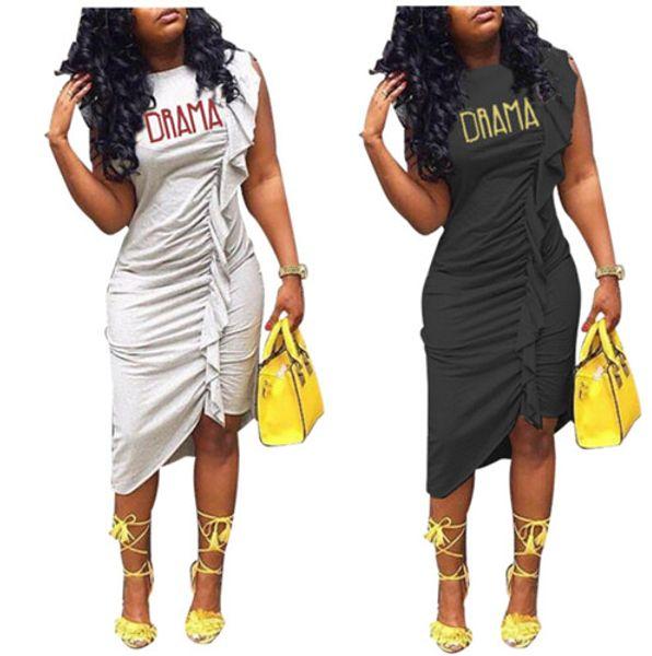 Vender bem as mulheres de uma peça vestidos Sexy Club roupas de verão midi vestidos Assimétrico Midi-bezerro manga curta ruched plissado Plus Size 158