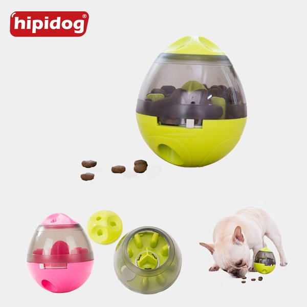Hipidog Pet Dog Cat Tumbler Food Balls Toy Interactive Pet Toy Dogs Cats Playing Training Iq Puzzle Plastic Toys Pet Supplies Q190430