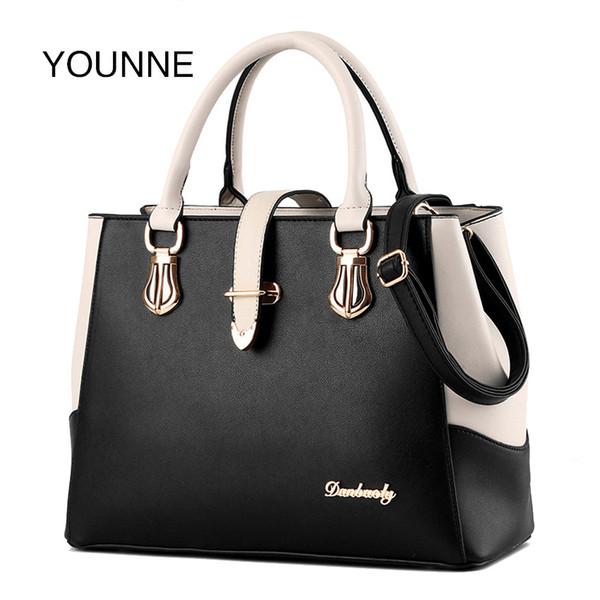 Younne Women Handbag Women's Patchwork Fashion Shoulder Bag Female Casual Solid Color Bags Lady Simple Style Message Bag Bao J190426