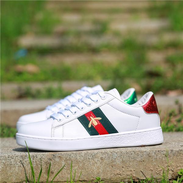 Persönlichkeit Mode Berühmte Luxusmarken Designer Sneakers Lace-up Dame Mädchen Schuhe mit Top Qualität Echtes Leder Männer Frauen Casual Stiefel