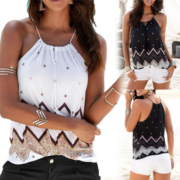 HOT sell Fashion womens tops and blouses summer 2018 Loose Sleeveless Casual Tank Shirt Blouse Tops Vest camicette Y17