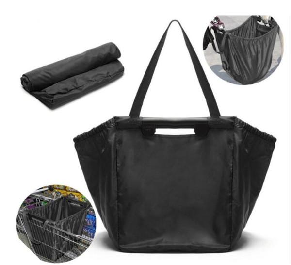 Designer-- réutilisable Grab Bag Sac d'emballage d'épicerie isolé Pliable Supermarché grande capacité peut contenir jusqu'à 40 lb Sac de stockage Chariot
