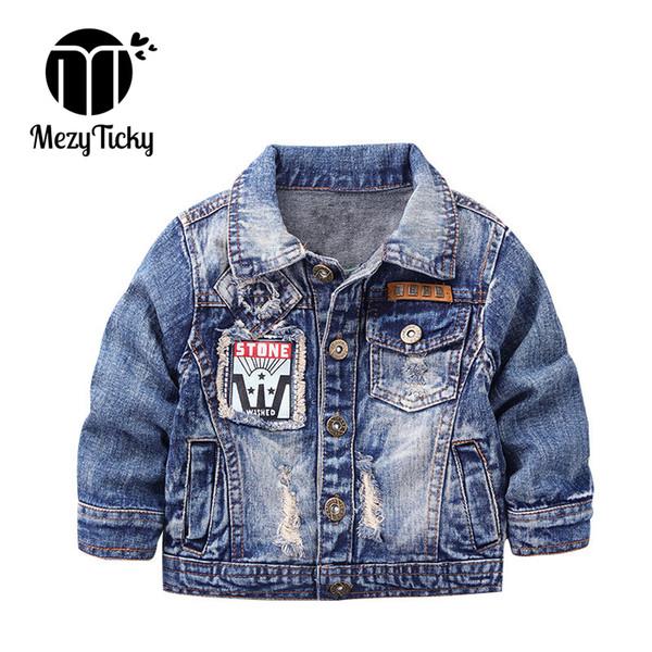 MezyTicky Boys Denim Jacket Windbreaker Cool Kids Parka Coat Clothing Children Winter Outerwear Toddler Canvas Jackets Clothes