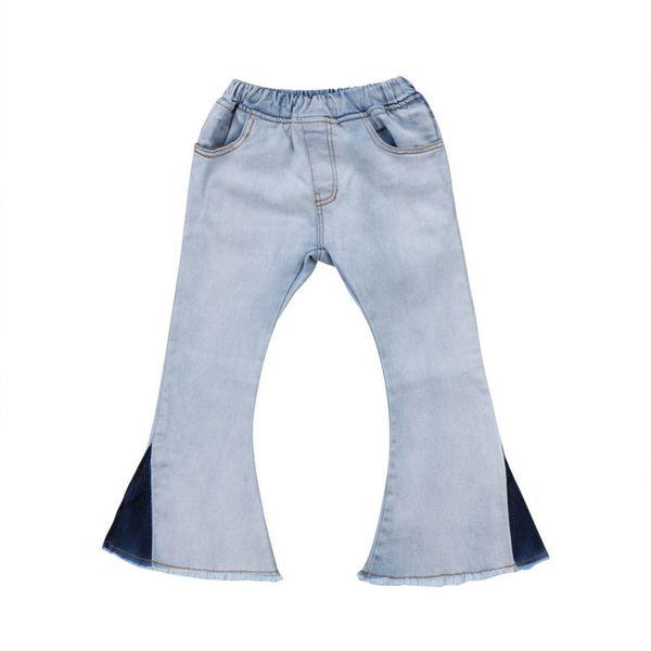 New Fashion Children Girls Bell-Bottoms Jeans 2018 Hot Selling Toddler Kids Baby Girl Denim Wide Leg Tassel Trousers Jeans