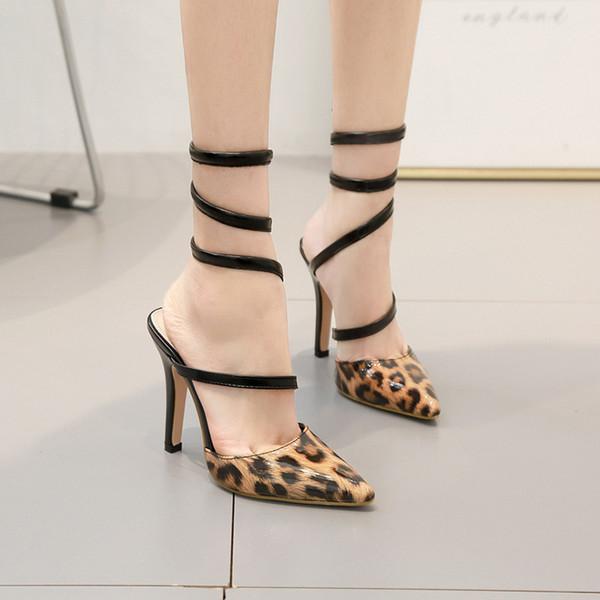 Прекрасный принт Leopard Wind Wild2019 с сандалиями Sharp Star Fund Женская обувь 40