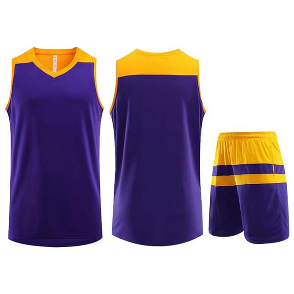 Best Selling Customized Training Sportswear Basketball Jersey Purple Running Jogging Men Women Striped Trendy Clothing Suit Plus Size 5XL