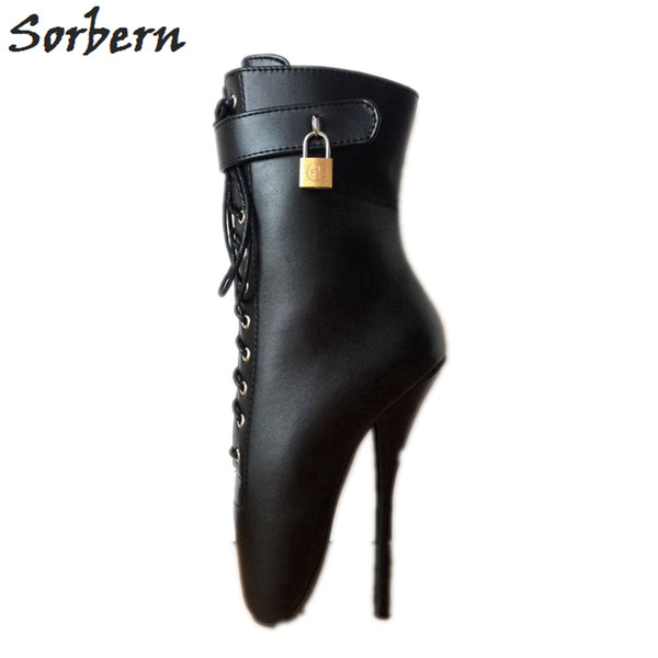 A 18cm Botines 2019 Tacón Matte Zapatos Tobillo Mujer Stilettos Compre Alto Personalizado Negro Tallas Shoes Grandes Sm Señora Ancho Ballet UMVSzpq