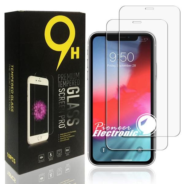2019 El protector de pantalla más nuevo para iphone x xr xs vidrio templado máx. Para IPHONE 7 8 Plus J3 J7 prime LG HUAWEI Mate 20 X Alcatel 5X más fuerte