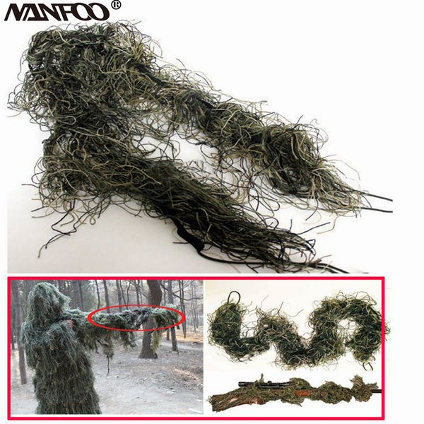 3 colors available camouflage elasitc rifle gun wrap 3d ghillie rope tactical gun wrap paintball hunting accessories camo thumbnail