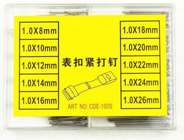 free shipping 100pcs Stainless Steel Tiny Rivet Kits Tools for Watches Band Repair