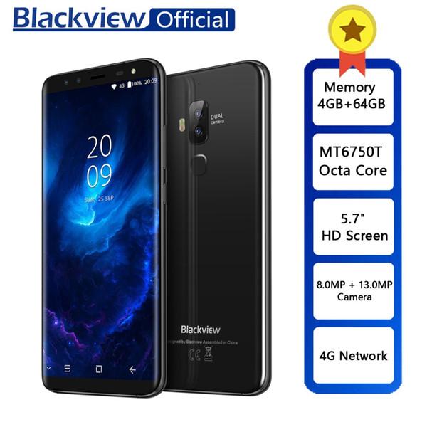 "Blackview S8 5.7"" 18:9 HD Screen 4 Cameras MT6750T Octa Core Smartphone 4GB+64GB Dual SIM Fingerprint OTG 4G LTE Mobile Phone"