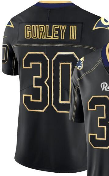 Men Los Angeles 30 jersey LA Shirts Man Embroidery and 100% stitched 2019 Lights Out Black Color Rush Limited Football Jersey 00