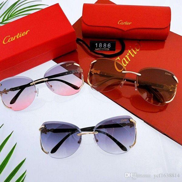 Meilleures ventes Hommes Femmes Lunettes de soleil Mode d'or vert ronde Cadre en métal 55mm en verre Lunettes de soleil Objectifs Concepteurs Excellente qualité