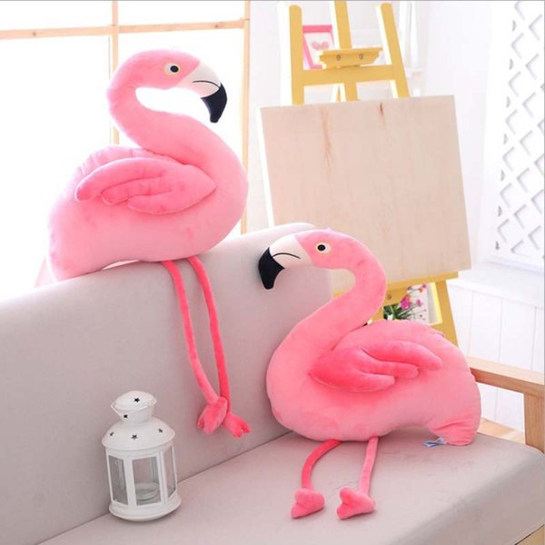 38cm Cute Pink Flamingo Plush Toys Stuffed Wildlife Animal Bird Dolls Baby Pillow Birthday Valentine's Day Gifts For Girls