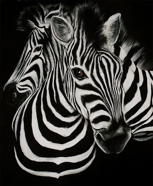 Animals Art Zebra Stripes ,Oil Painting Reproduction High Quality Giclee Print on Canvas Modern Home Art Decor
