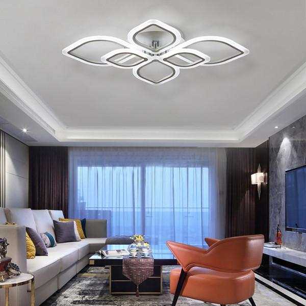 Acheter Lustres Modernes Conduit Au Salon Chambre Salle A Manger Plafond Acrylique Lampe Lustre Maison Eclairage Interieur R38 De 126 04 Du