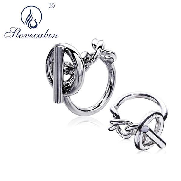 Slovecabin Vintage Мужчины ювелирные изделия Аутентичные 925 серебряные Стопорные Обручальные кольца BAGUE Femme Marage серебристые кольца для женщин