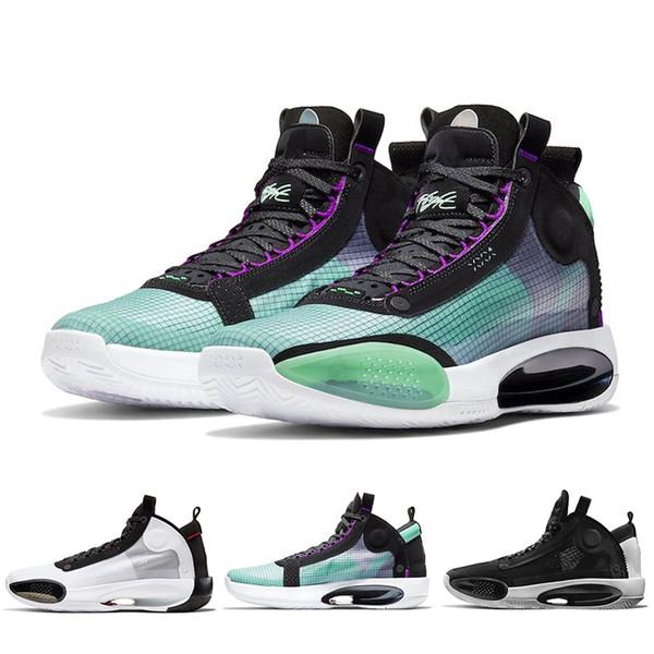 chaussures de basket-ball pour les hommes 34 34s Bleu Void Eclipse Snow Leopard AMBER RISE formateurs hommes Bred Sneakers Sport 7-12 Nouvelle arrivée