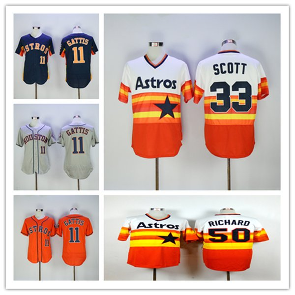 online store 98bb8 a188d 2019 Houston 2019 Astros Jersey 11 Evan Gattis Baseball Jerseys With 2017  World Series Champions Jersey Size S XXXL From Jerseyhome99, $25.39 | ...