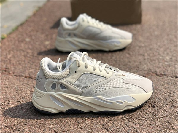 2019 Auténtico 700 V2 Analógico EG7596 Kanye West Zapatos al aire libre Hombres Mujeres Runner Wave Salt Mauve Static Inertia Geode Zapatillas con caja OG