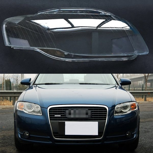 For Audi A4 B7 2006 2007 2008 Transparent Car Headlight Headlamp Clear Lens Front Auto Shell Cover