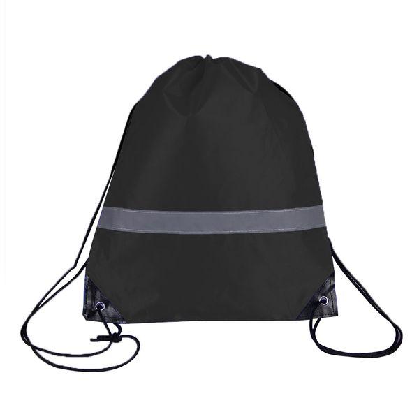 10 Pcs Estudantes Drawstring Bags Walking Armazenamento de viagem Gym Bolsa Camping grande capacidade reflexiva Strap Outdoor presente Esporte
