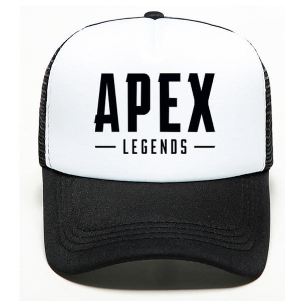 Nuevo Sombreros Unisex Deportes al aire libre Sombreado del sol Hip Hop Sombreros Apex Leyendas Gorras de béisbol Carta Impreso Verano Malla Hombres Mujeres