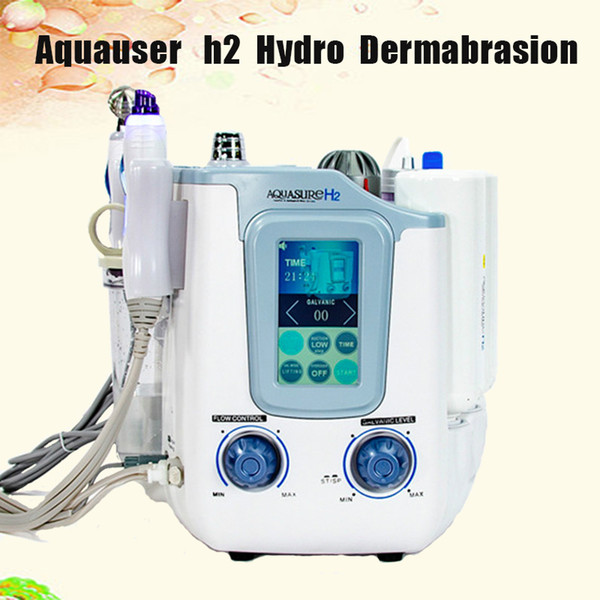 For beauty salon New arrival H2O2 Hydro Water Peeling Facial cleaning face roller microcurrent stimulation EMS Machine