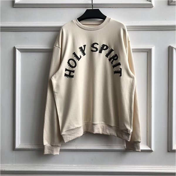 High Street Kanye West Sweatshirts Autumn Winter Sunday SERVICE HOLY SPIRIT 3D Foam Printing 2019 CPFM Kanye West Hoodie