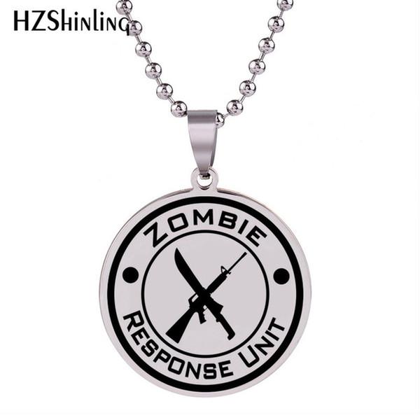 2019 Nuova collana di vinile unità di risposta Zombie Collana in argento con pendente a catena in acciaio inox con catene artigianali HZ7