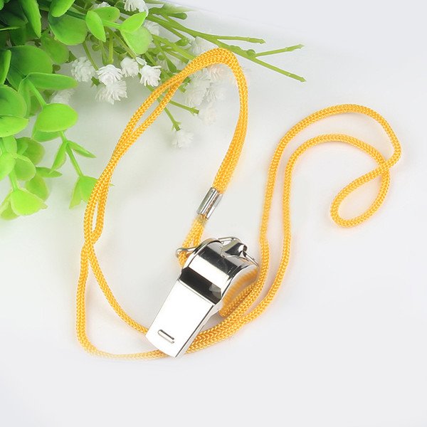 Golvery Metal Referee Whistle Extra Loud Whistle with Multicolor Lanyard Soccer Football School Sports Gear Whistle Lifeguard EDC Tools M65R