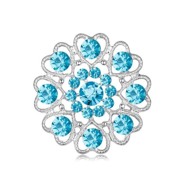 Accessories Wedding Women Vintage Crystal Brooch Pins Eagle Rhinestone