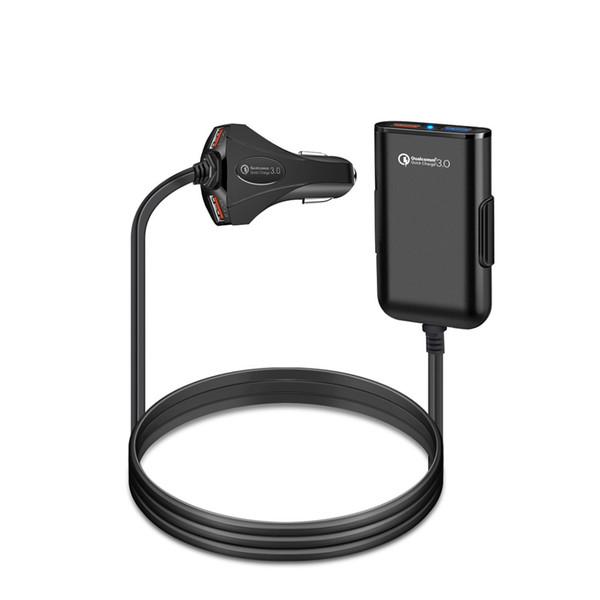 Veloce QC3.0 Caricabatteria da auto 12V 1.5A 4 Cavo di prolunga porta USB per carica posteriore con uno Smart Phone a clip Alta qualità
