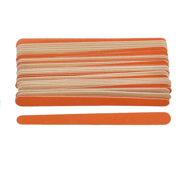 50pcs/lot Professional Wooden Nail File 150/150 Sandpaper Nail Art Sanding Salon Buffer Files For Pedicure Manicure Care Tools