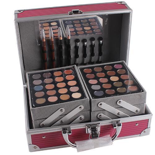 SENHORITA ROSAS conjunto de maquiagem profissional caixa De Alumínio com sombra blush contorno paleta de pó para maquiador presente kit MS004