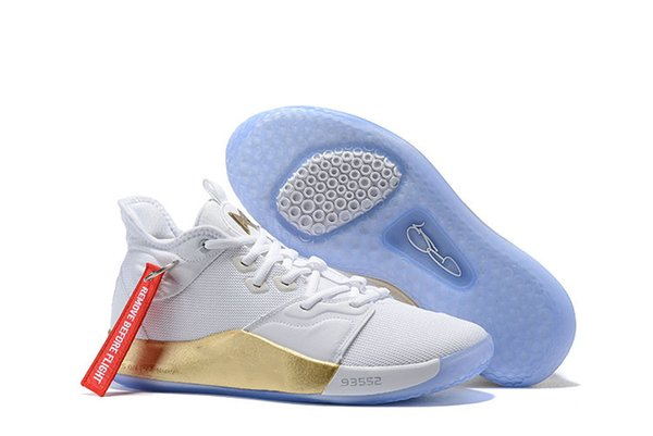 2019 Best New White Gold Paul George PG 3 x EP Palmdale PlayStation Mens Basketball Shoes Cheap Sale USA Designer PG3 3s Sports Sneakers