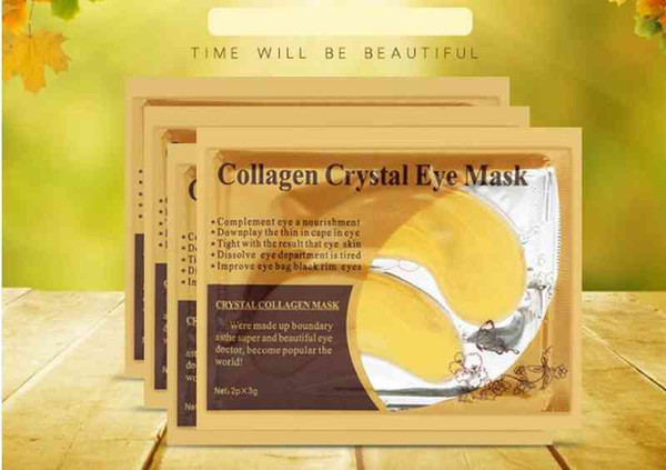best selling Gold Crystal Collagen Eye Mask Anti Aging Dark Circles Puffiness Moisturizing Eye Masks Colageno Gel Eye Pads