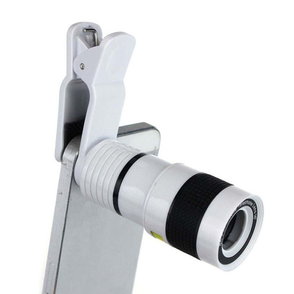 Universal 8x Zoom Optical Phone Telescope Portable Mobile Phone Telephoto Camera Lens and Clip for iphone smart phone