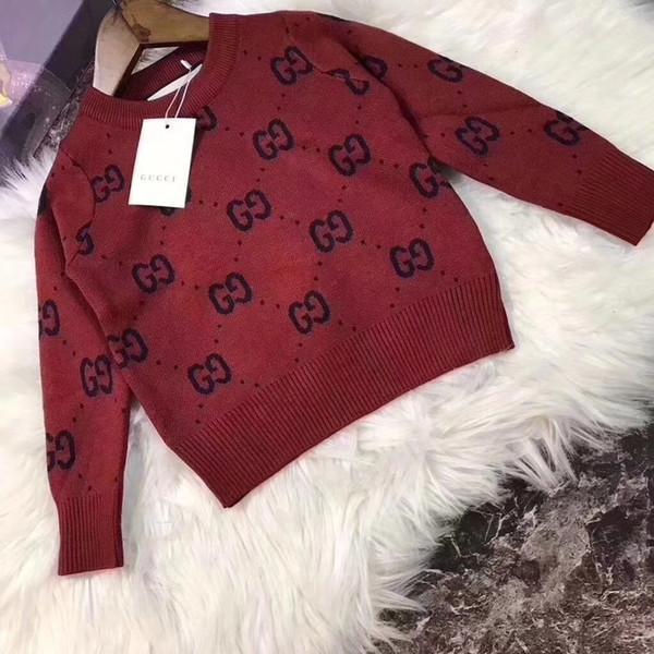 Vendita calda Boy Designer di lusso maglioni Maglione Autunno Brand Design lavorato a maglia Pullover da neonate bambini abbigliamento per bambini Infant Top 092011