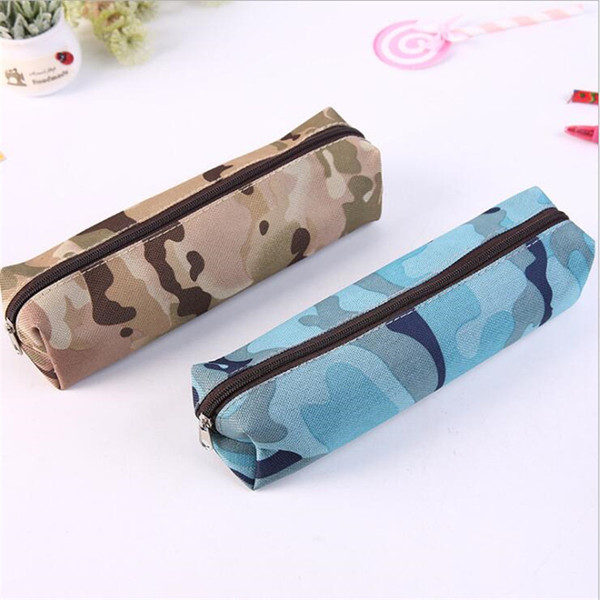 1pcs women men cosmetic makeup bags ladies travel toiletry makeup brushes organiser bag student camouflage prints pencil case thumbnail