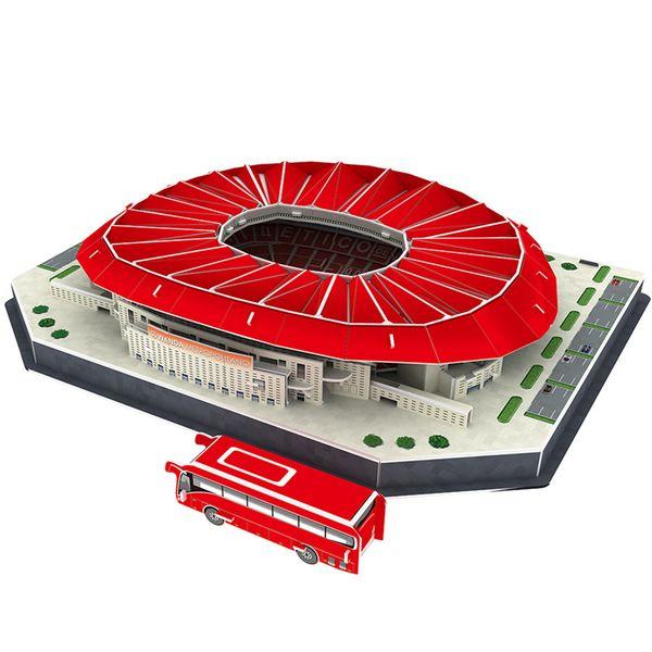 Classic Jigsaw Puzzle Architecture Madrid Athletics Wanda-metropolitano Football Stadiums Toys Scale Models Sets Building Paper C19041701