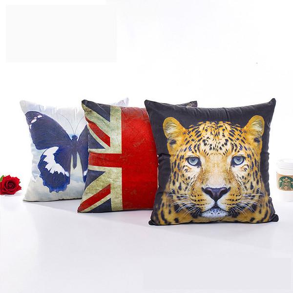 3d animale federa del cuscino molle della copertura Piazza 45 * 45cm decorativo Cusion copertura per Casa Moda Sofa Home Decor