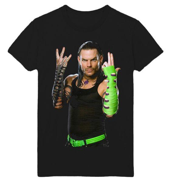 JEFF HARDY L'ENIGME QUALITE IMPRIMÉ NOIR UNISEXE T-SHIRT GRATUIT UK POST WWX69Funny livraison gratuite Unisexe Casual T-shirt