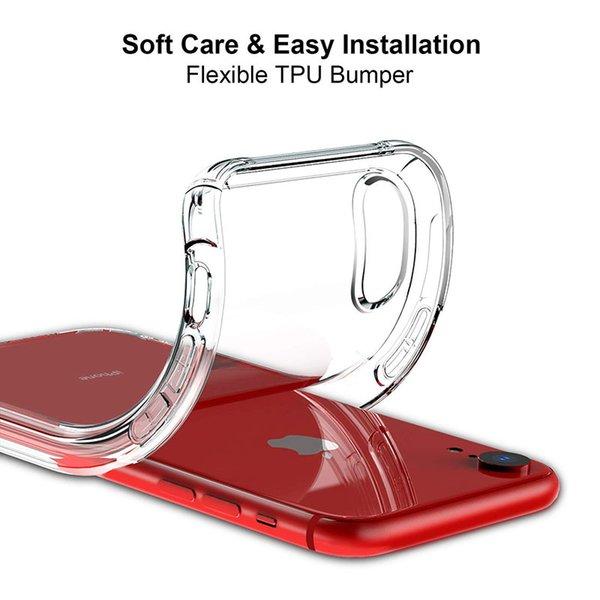 Estuche para iPhone XR, estuche protector resistente resistente con protector de TPU suave [Delgado delgado] Estuche para iPhone XR 6,1 pulgadas - Cristal transparente