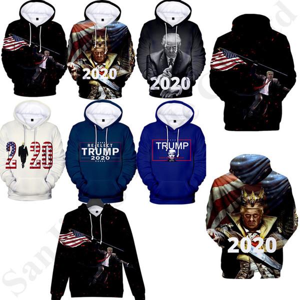 Donald Trump Erkekler Kadınlar için 3D Hoodies Tişörtü Trump Başkan Hoodie Kazaklar Hip Hop Streetwear Tops Moda Sonbahar T Gömlek B82204