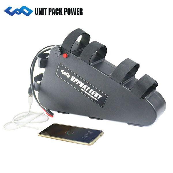 UPP Triangle Style 48V 18Ah Batteria per bici elettrica Batteria al litio 48V 1000W con USB per Bafang BBS02 BBS03