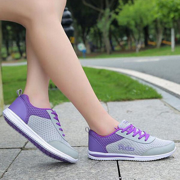 Spring Autumn New Zapato Women Breathable Mesh Zapatillas Shoes For Women Network Soft Casual Shoes Wild Flats Casual