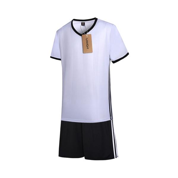 Lixada Fußball Sweat T-Shirt Fußball Shirt Uniformen Set Fußball Trikots Kurzarm Sportbekleidung Atmungsaktiv Ball Jersey # 687911